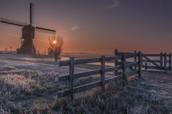 De Blokker en Kinderdijk Holanda Fotografía de archivo