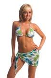 De Blonde van de Bikini van het eiland royalty-vrije stock afbeeldingen