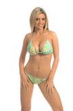 De Blonde van de Bikini van het Lovertje van Paisley Royalty-vrije Stock Afbeelding