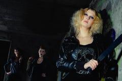 De blonde van de wacht Stock Foto