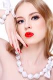 De blonde van Glam Stock Foto's