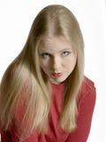 De Blonde van Pouty Royalty-vrije Stock Afbeeldingen
