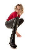 De blonde vrouw van Attracctive Stock Fotografie