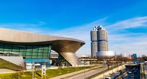 De de BMW-Rand en BMW-fabriek in München, Beieren - Januari 19,2019 stock afbeelding