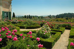 de Boboli trädgårdarna i Florence Tuscany royaltyfria foton