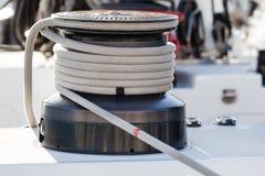 De Bocht van de Kabel van de zeilboot Royalty-vrije Stock Fotografie