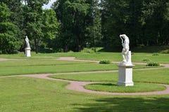 De bodem Nederlandse tuin in Gatchina, Rusland royalty-vrije stock afbeeldingen