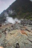 De bodem van de krater stock foto