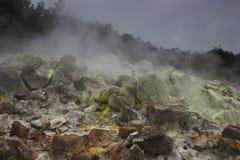 De bodem van de krater royalty-vrije stock fotografie