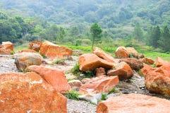 De bodem van de krater van Tecapa-vulkaan, El Salvador royalty-vrije stock fotografie