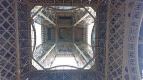 De bodem van de toren van Eiffel stock afbeeldingen
