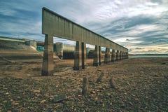 De bodem van de vrijgegeven Nechranice-Dam stock foto