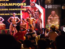De Bodybuildingsconcurrentie in Khon Kaen Thailand 2013 Stock Fotografie