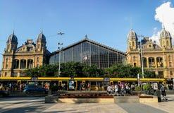 de Boedapest-Nyugati Spoorweg Terminalt royalty-vrije stock foto