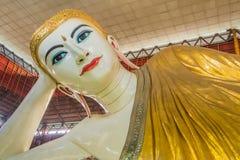 De boeddhistische botervis van de monnikenslaap Royalty-vrije Stock Afbeelding