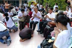 De boeddhistische ceremonie van de nonordening Stock Afbeelding