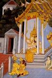 De Boeddhistische godsdienst van de muurschilderingmythologie royalty-vrije stock foto's