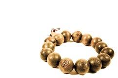 De boeddhistische Houten Armband van de Parel Royalty-vrije Stock Afbeeldingen