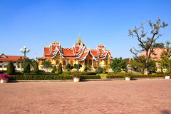 De Boeddhistische Maatschappij van Laos van de Zaal van Staten royalty-vrije stock afbeeldingen