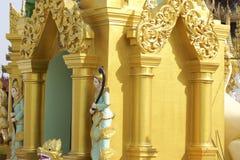 De boeddhistische tempel complexe Shwedagon is een historisch symbool van Boeddhisme, Myanmar stock fotografie