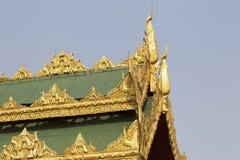 De boeddhistische tempel complexe Shwedagon is een historisch symbool van Boeddhisme, Myanmar royalty-vrije stock foto's