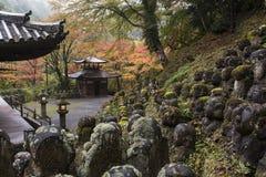 De Boeddhistische Tempel Kyoto, Japan van Otaginenbutsu -nenbutsu-ji Stock Foto