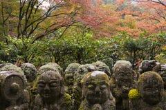 De Boeddhistische Tempel Kyoto, Japan van Otaginenbutsu -nenbutsu-ji Stock Afbeelding