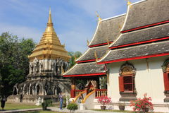 De boeddhistische tempel van Wat Chiang Man, Chiang Mai, Thailand Stock Foto