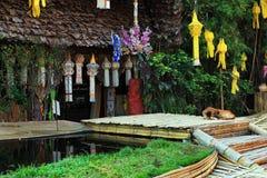De boeddhistische tempels van Chiang Mai - Wat Phan Tao, Thailand Stock Foto's