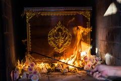 De Boeddhistische Thaise crematiekamer stock afbeelding