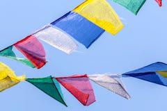 De boeddhistische Vlaggen van het Gebed Stock Afbeeldingen