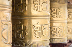 De boeddhistische Wielen van het Gebed Stock Foto's