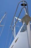 De boeg van de zeilboot Stock Foto