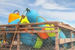 De Boeien van de Val van de zeekreeft Stock Afbeeldingen