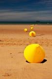 De boeien van het strand Royalty-vrije Stock Fotografie