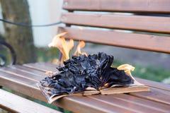 De boekbrandwonden Royalty-vrije Stock Afbeeldingen