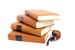 De boeken die van Goethe pijp roken Stock Fotografie