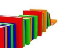 De boeken plaatsen  Royalty-vrije Stock Foto's