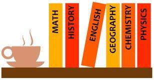 De boeken van de studie vector illustratie