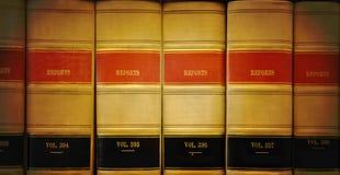 De Boeken van de Wet van de bibliotheek Stock Foto