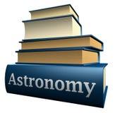 De boeken van het onderwijs - astronomie Stock Afbeelding