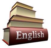 De boeken van het onderwijs - het Engels Stock Foto