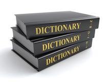 De boeken van het woordenboek vector illustratie