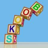 De boekenblokken tonen Fictienon-fictie en Bibliotheek stock illustratie