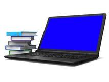 De boekencomputer betekent gegevens verwerkend PC en Www Royalty-vrije Stock Foto