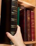 De boekenkast van de foto stock fotografie