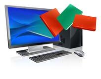 De boekenonderwijs of ebook concept van de computer Royalty-vrije Stock Foto