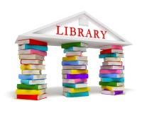 De boekenpictogram van de bibliotheek royalty-vrije illustratie