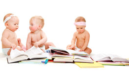 De boekenwurmen van de baby Stock Fotografie
