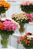 De boeketten van rozen bij XIX Internationale Bloem tonen Royalty-vrije Stock Foto's